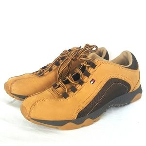 Tommy Girl Tan Leather Hiking Shoes Size 8